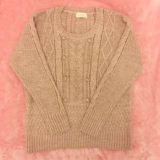 Light Brown Knit Top