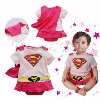 Superman Baby Bodysuit With Cape