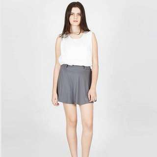 Supersale Chloe Skirt + Belt (Grey, Red)