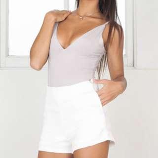 Showpo White Shorts Size 6