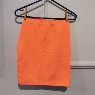 Orange Fluoro Skirt