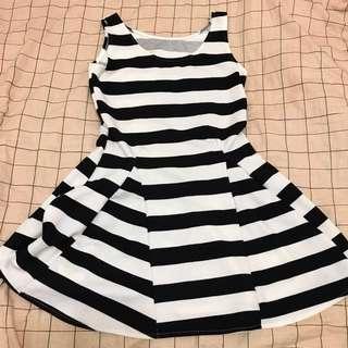 全新黑白背心洋裝
