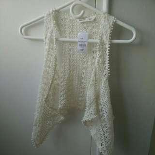 Bluenotes Summer Boho Crochet Vest