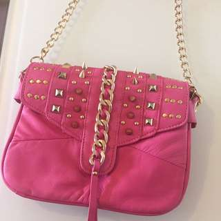 🈹💓Verde 窩釘粉紅色手挽袋‼️99%new