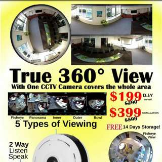 CCTV 1 - 360 Degree Eye Ball