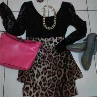 Mini Dress Leopard