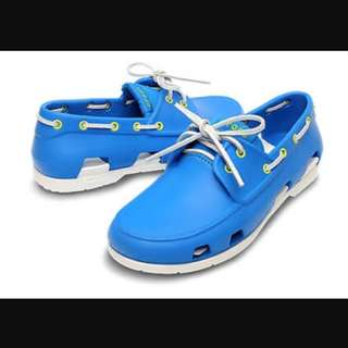 Crocs Ori Boat Shoes Blue Size 8