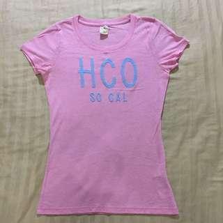 🚚 Hollister💗粉紅T Shirt