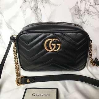 Gucci GG Marmont 相機包 斜背包 鏈條包 斜背包 447632 448065