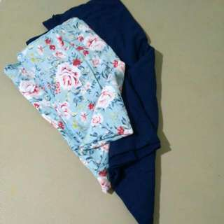 Take all Pashmina Flower Dan Dongker