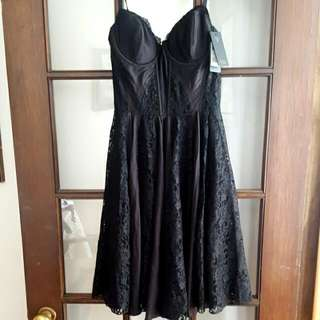 Guess LOS ANGELES Black Lace Dress New With Tags