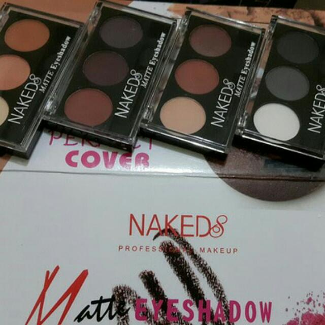 4 Pcs - Naked 8 Eyeshadow Matte Perfect Cover