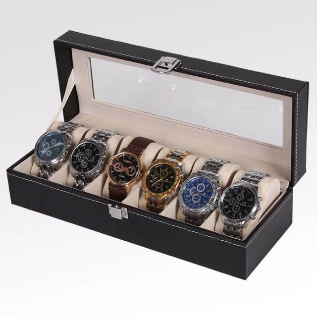 皮質首飾手錶展示盒