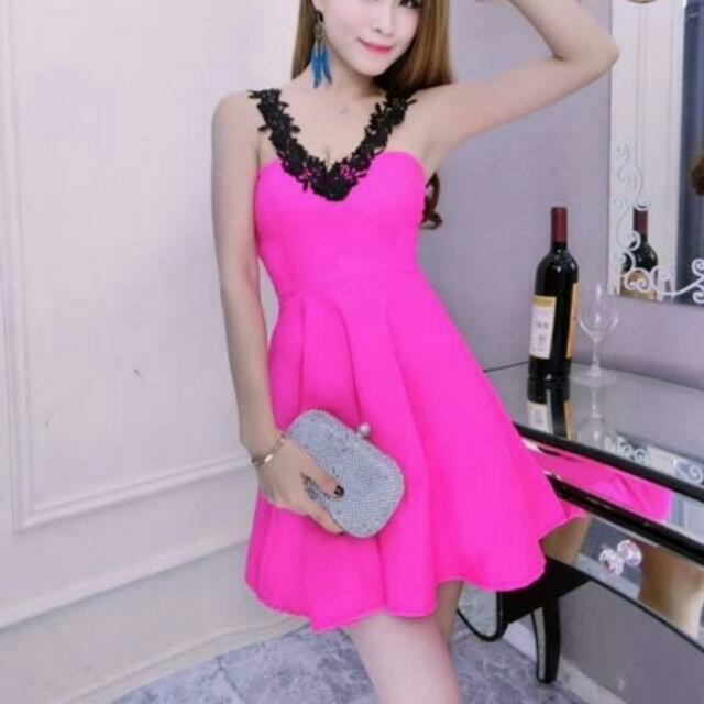 桃花傘狀洋裝