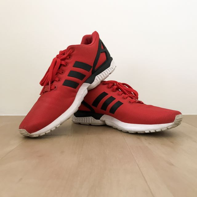 premium selection 53538 9817b Adidas ZX Flux (Red), Men's Fashion, Footwear on Carousell