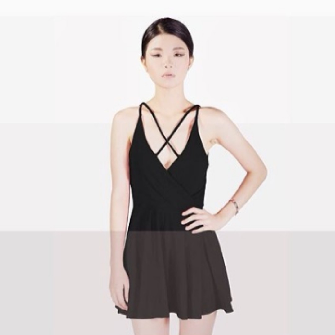 AstoGroup West Coast Double Crosser Mini Dress in Black