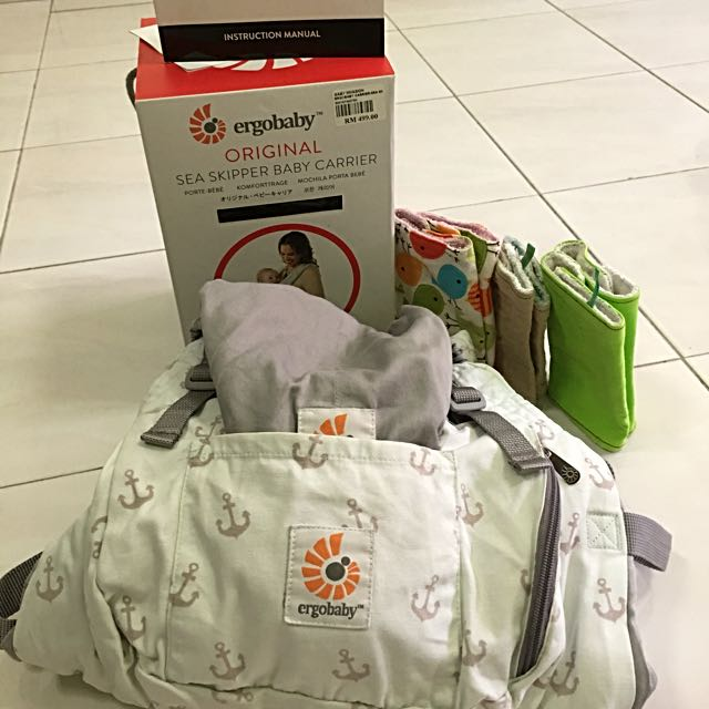 f874baed440 💯Authentic Preloved ERGOBABY Sea Skipper Baby Carrier