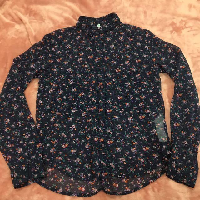 RAMADHAN SALE! BERSHKA - Floral Shirt (Kemeja)