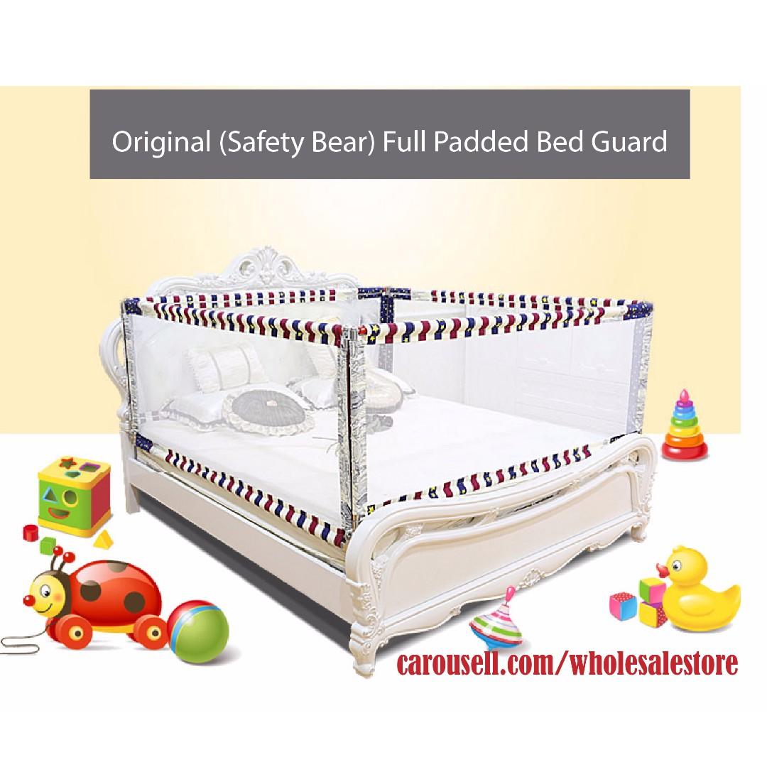 180 64cm Children Bed Guard Baby Rail Kids Fence In Gates