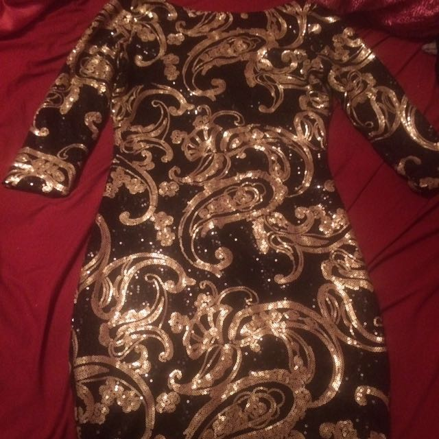 Black And Gold Night Out Dress