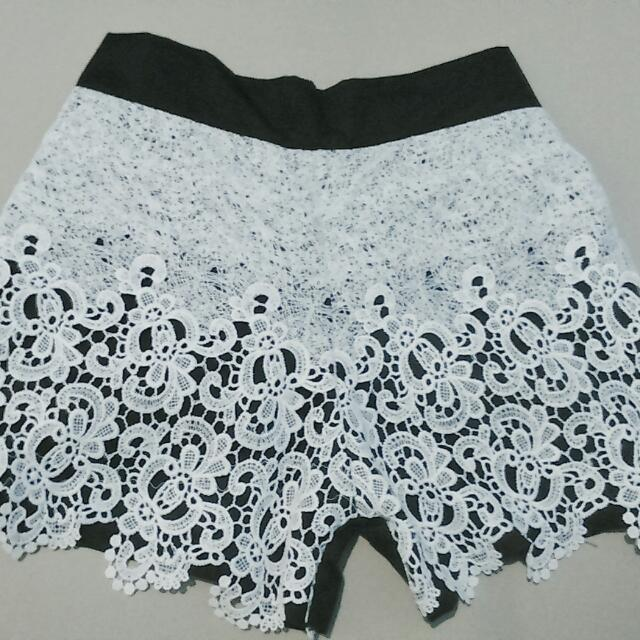Black Laced Shorts
