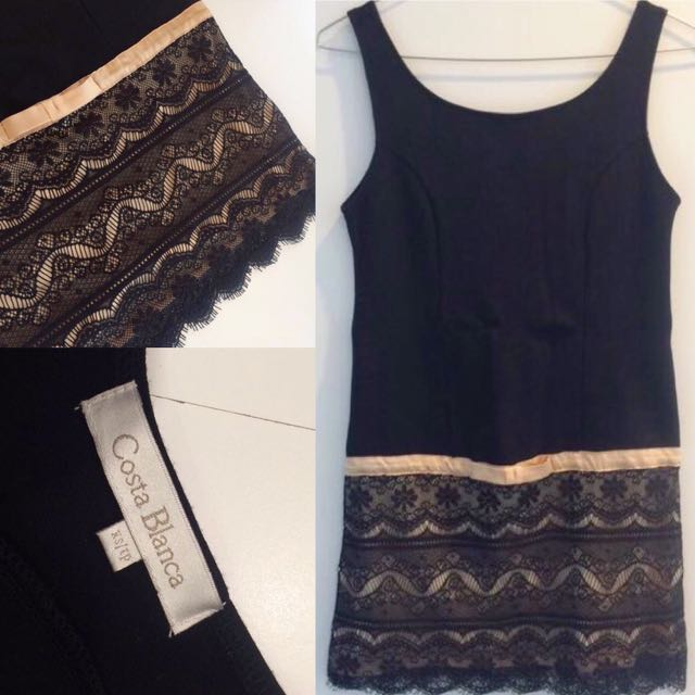 Black with lace dress.