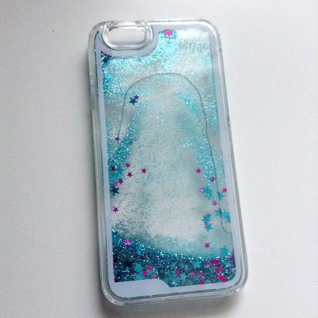 Blue Glitter Liquid iPhone 6/6s Case