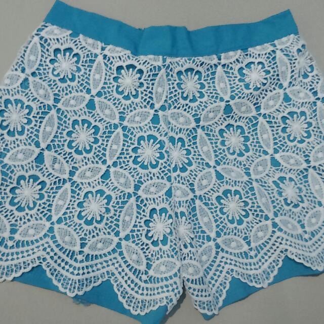 Blue Laced Shorts