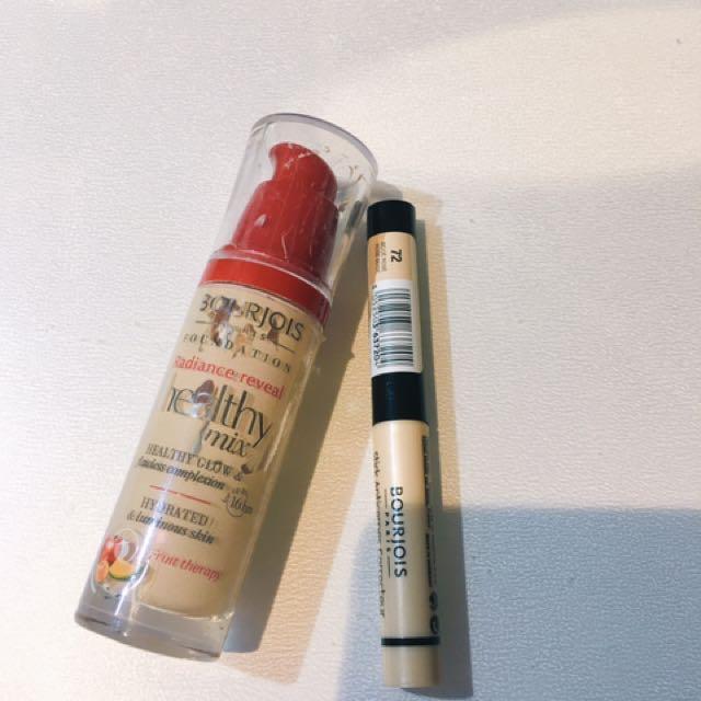 Bourjois Healthy Mix Foundation 51 Light Vanilla & Stick Concealer
