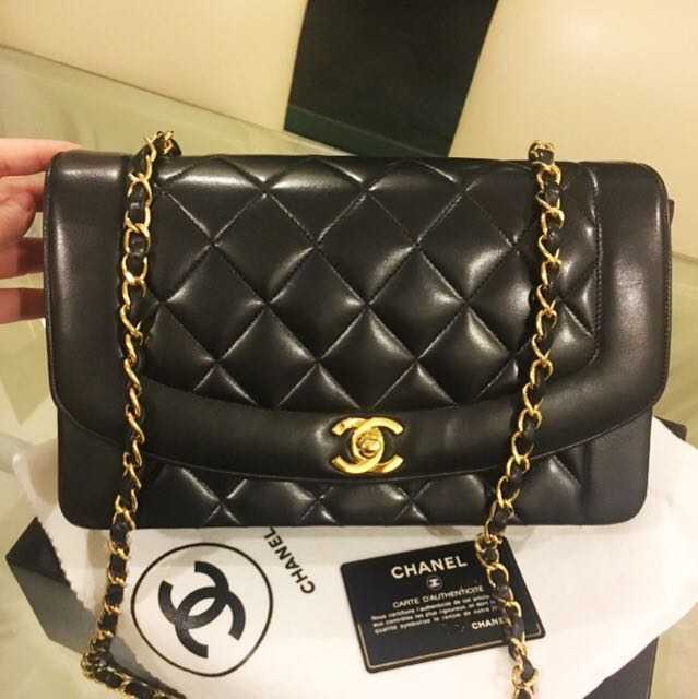 25354c12eb35 Buyer's Order: Complete Set Authentic Chanel Lambskin 10 Inch Diana Flap Bag  With 24k Gold Hardware, Luxury, Bags & Wallets on Carousell