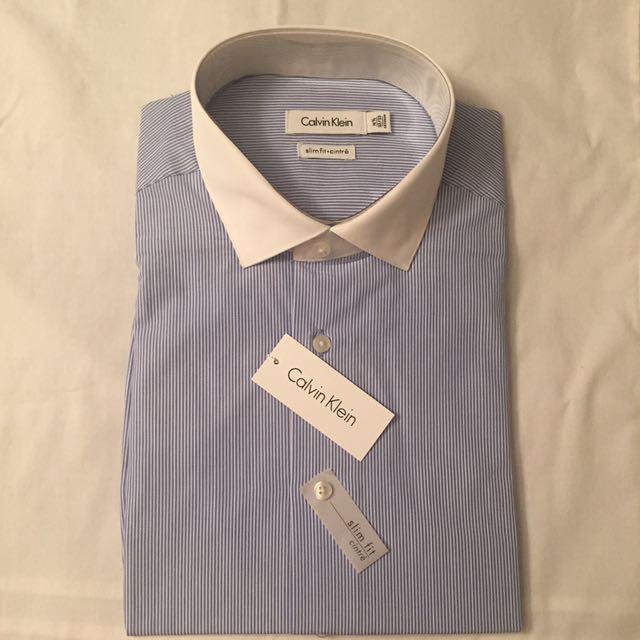 Calvin Klein Slim Fit Men's Shirt 16 1/2 32/33