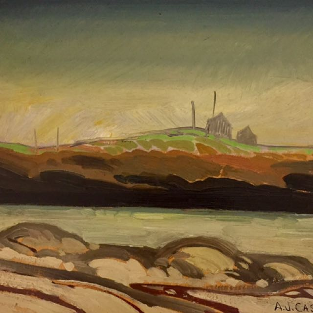 Canadian  Listed Oil On panel Aj Casson