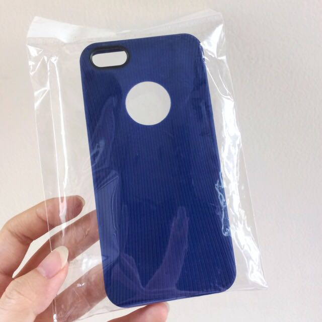 Apple Hole Soft Case Iphone 5 / 5s / SE Biru tua