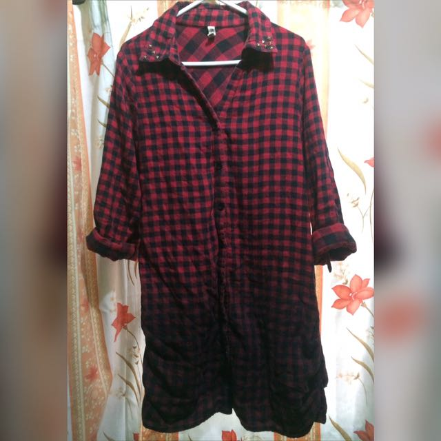 Checkered Polo Dress