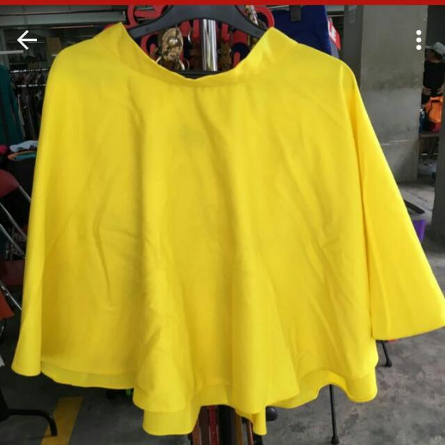 Chlorine Clothe Yellow Skater Skirt