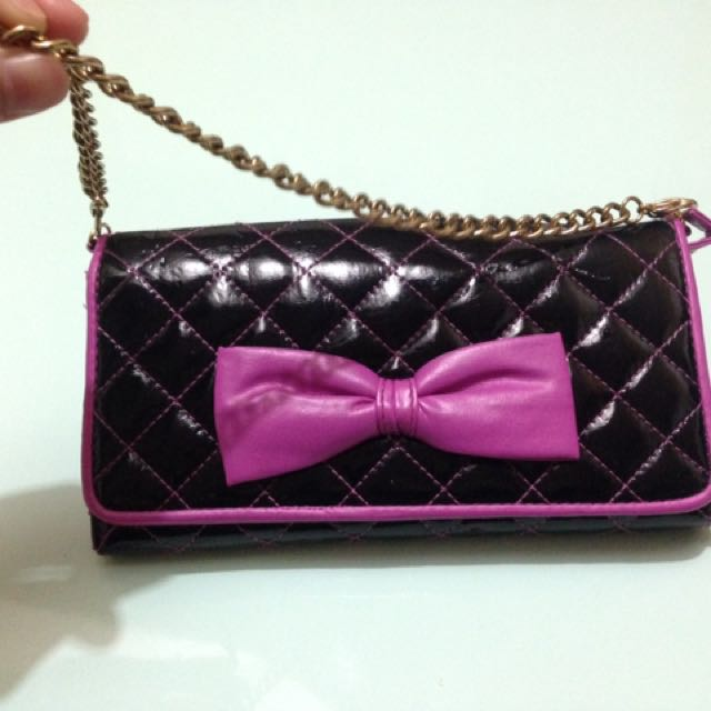 Claire's Long Wallet with short chain sling