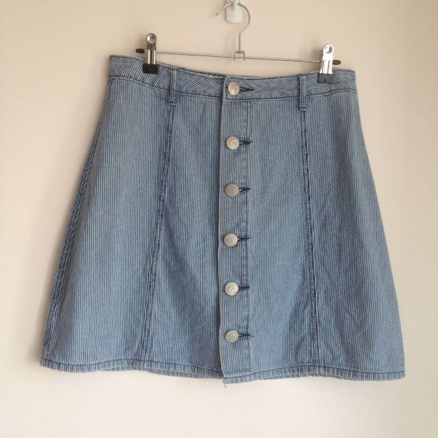 Cotton On Denim A-Line Skirt