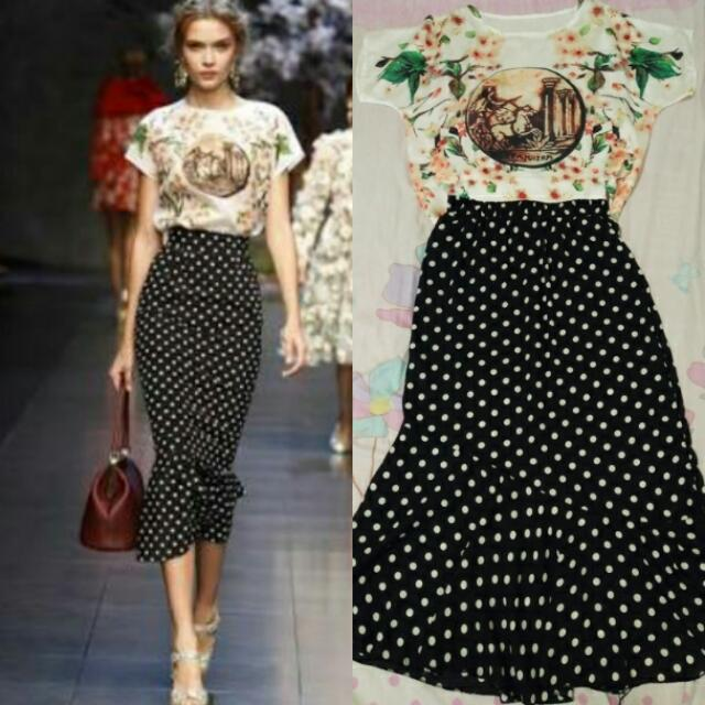 D&G Top And Skirt