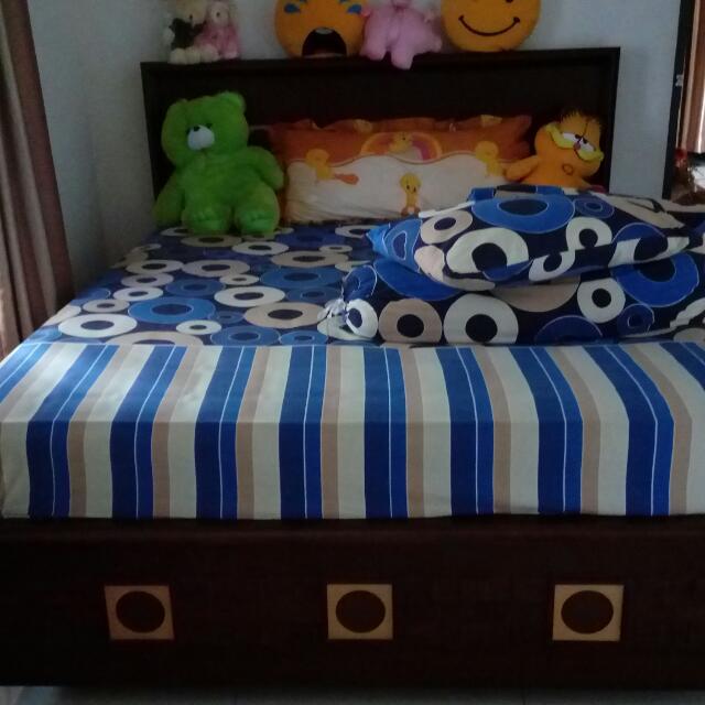 Dipan + kasur spring bed