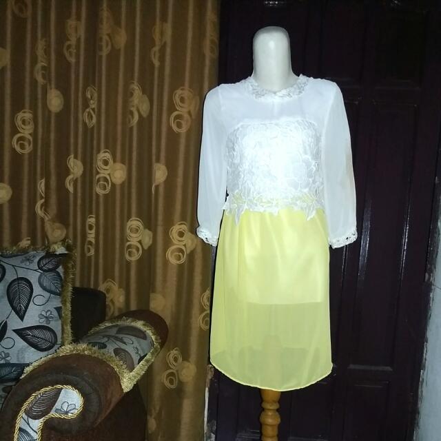 Dress Sifon Brukat