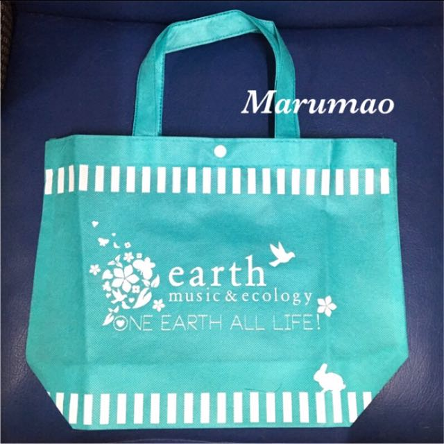 earth music&ecology Tiffany藍色環保購物袋
