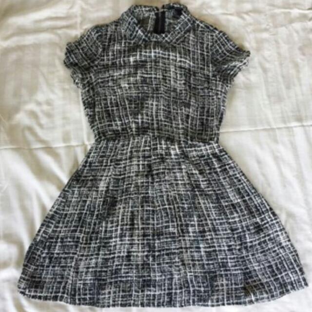 F21 Faux Tweed Dress
