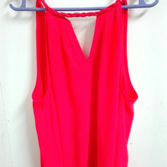 F21 PINK SLEEVELESS TOP
