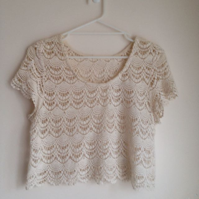 Factorie Crochet Crop Top