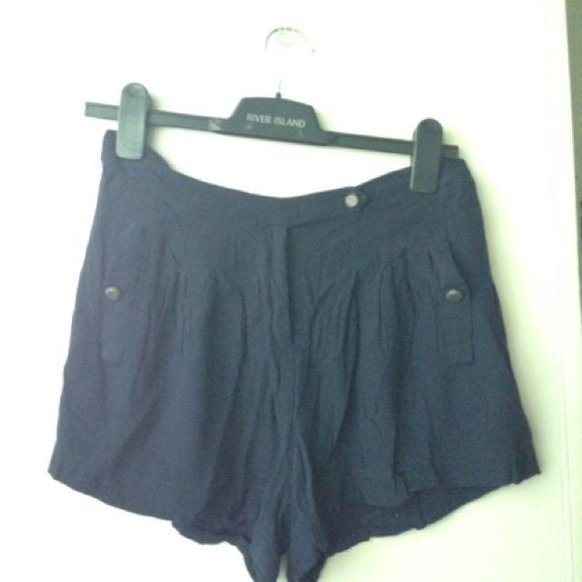 Forever21 Navy Blue Shorts