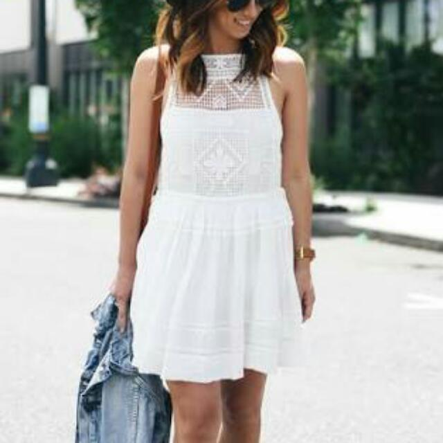Free People Crochet Skater Dress