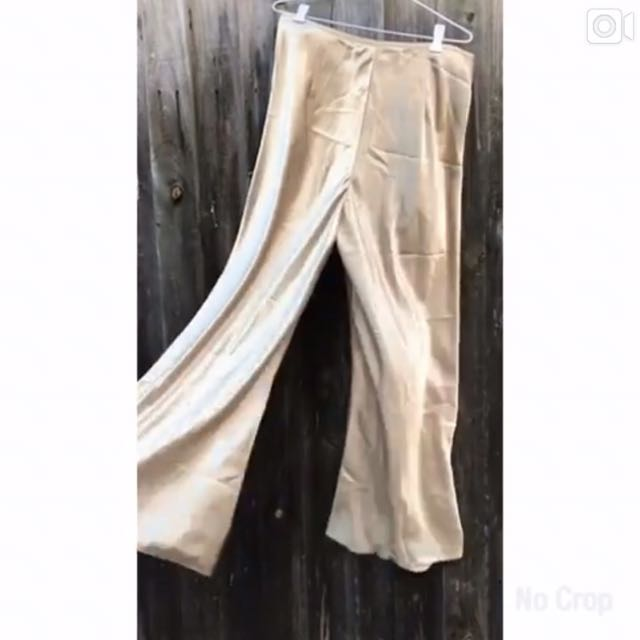✨Gold Silk Flare Pants✨