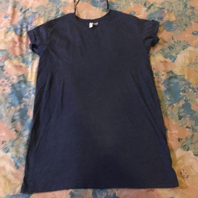 H & M Navy Blue Shirt Dress