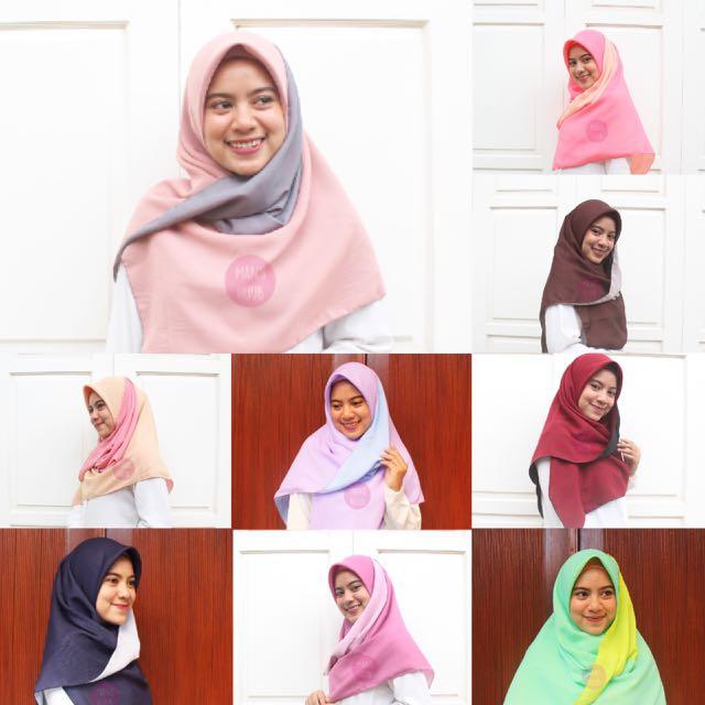 Hijab square bolak balik