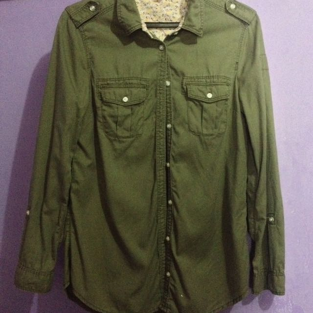 H&M Army Green Longsleeves